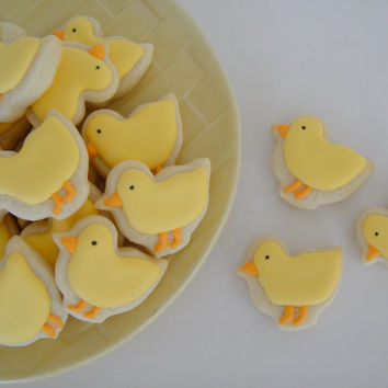 Baby Chicks Iced Sugar Cookies - Oh So Small - Mini (3 Dozen)