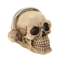 ROCKINÕ HEADPHONE SKULL FIGURINE