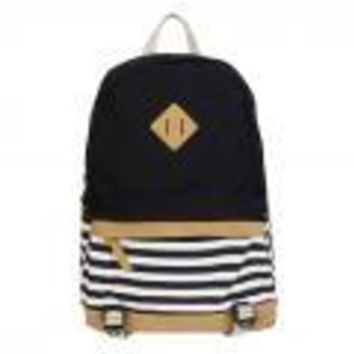 University College Backpack New Girl Bags Canvas Nautical Striped Student s Rucksack Marine Sailor Navy Stripy School Bags  Wind Shoulder BagAT_63_4