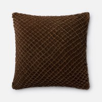 Loloi Brown Decorative Throw Pillow (P0125)
