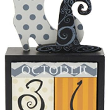 K & K Interiors Halloween Perpetual Calendar - Orange