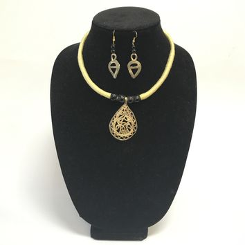 Copy of HANDCRAFTED DOKRA WORK NECKLACE SETS