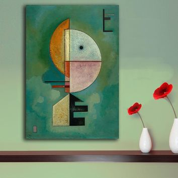 Handmade Famous Abstract Oil Painting Kandinsky Geometric Patterns Canvas Painting Wall Art Pictures For Living Room Paintings