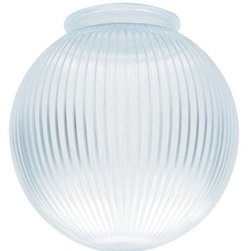 3-1/4-Inch Clear Prismatic Glass Globe