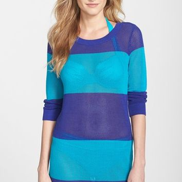 Women's Tommy Bahama Stripe Cover-Up Sweater