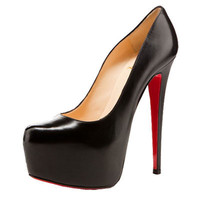 Red Bottom Black Leather Pumps