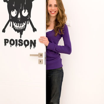 Vinyl Wall Decal Sticker Poison #OS_MB657