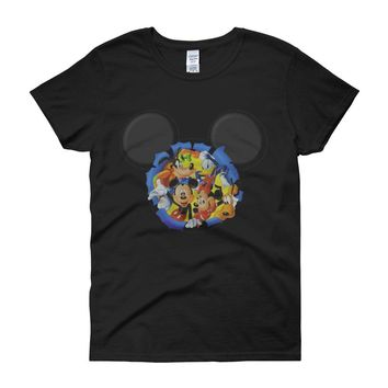 Disney Silhouettes Mickey Mouse And Frieds Women'S T Shirt