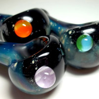 Glass Pipe SPACE PIPE, Custom Design your Own Planets, Hand Blown Glass, Cgge Team, Made To Order