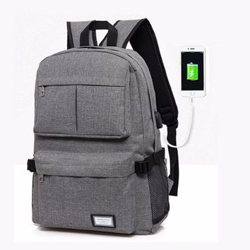2017 USB Unisex Design Backpack Book Bags for School Backpack Casual Bag Rucksack Daypack Polyester Laptop Fashion Man Backpacks