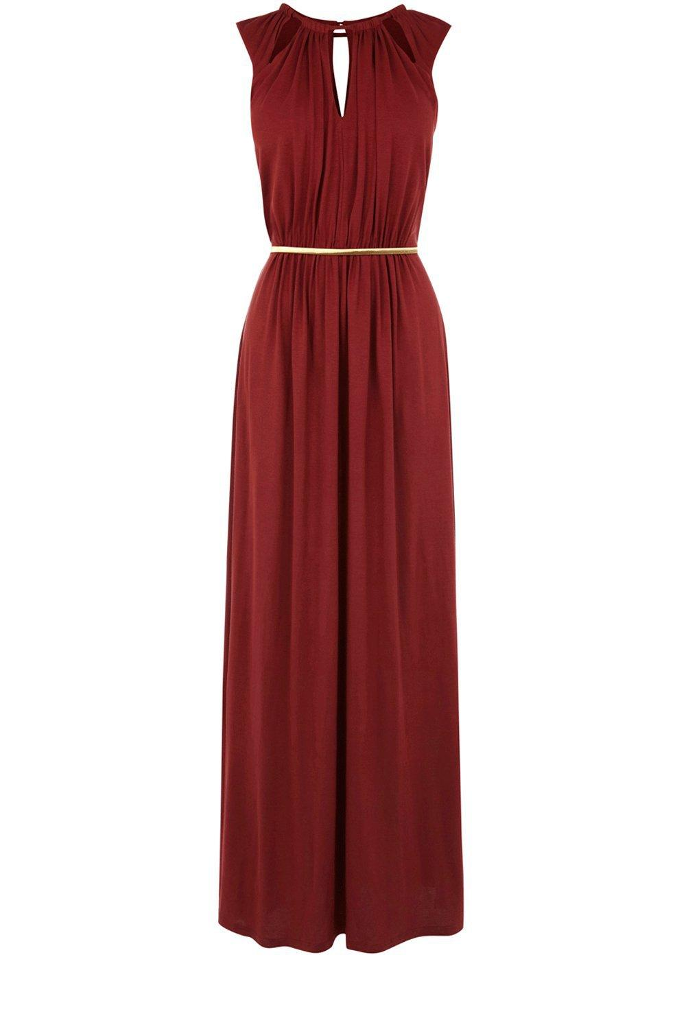 Oasis Shop Burnt Orange Luxe Maxi Dress From Oasis Clothing