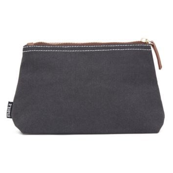 Waxed Black Canvas Pouch