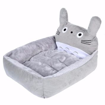 Cartoon Cat Beds & Mats Cozy Warm Soft Fleece Bed