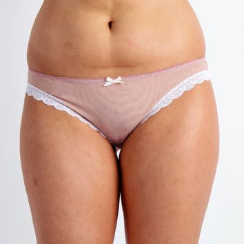Pretty Mesh Panty in Rose Mauve