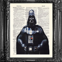 DARTH VADER DvF-Star Wars Art Print-Star Wars Poster-Anniversary Gift Man-Husband Gift-BIRTHDAY Gift Boyfriend-Home Decor-Office Artwork