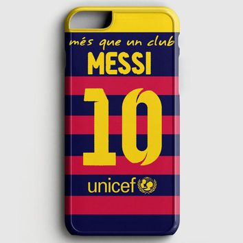 Lionel Messi Fc Barcelona Jersey iPhone 6 Plus/6S Plus Case