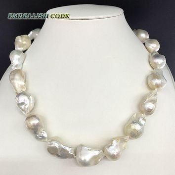Baroque Pearl Necklace Freshwater 100% Natural Pearls