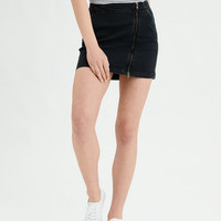 AE Denim X High-Waisted Mini Skirt, Black