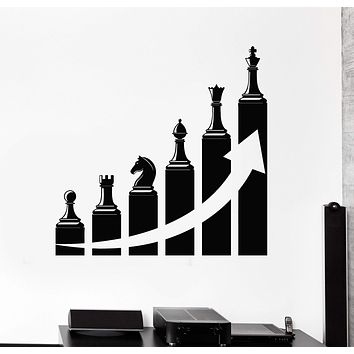 Vinyl Wall Decal Office Decoration Success Career Ladder Chess Stickers Unique Gift (ig4581)