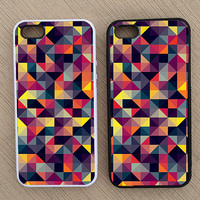 Cute Abstract Square Geometric Pattern iPhone Case, iPhone 5 Case, iPhone 4S Case, iPhone 4 Case - SKU: 173