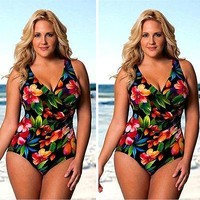 Bohemia One Piece Swimsuit Swimwear plus size swimwear