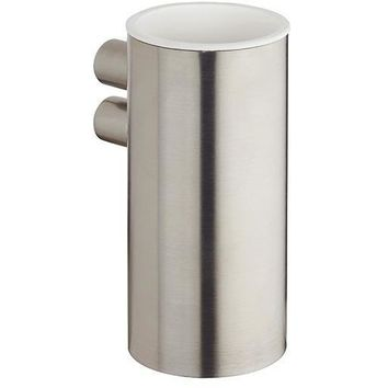 BA Tecnohotel Wall Brushed Stainless Steel Toothbrush Toothpaste Holder Tumbler