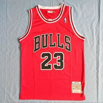 Michale Jordan Jersey Chicago Bulls 23 Jersey Red