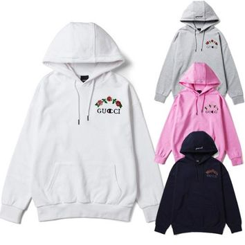 GUCCI+Champion Flower Vine Hoodie Pullover Hight Quality