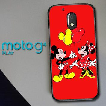 Baloon Love Mickey Minnie Mouse V1574 Motorola Moto G4 Play Case