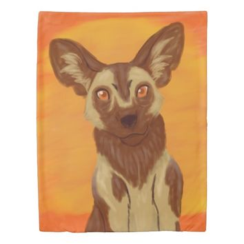 African Wild Dog Duvet Cover
