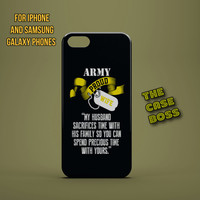 ARMY WIFE HUSBAND Design Custom Phone Case for iPhone 6 6 Plus iPhone 5 5s 5c iphone 4 4s Samsung Galaxy S3 S4 S5 Note3 Note4 Fast!