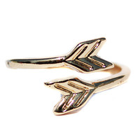 Gold Arrow Wrapped Midi Ring