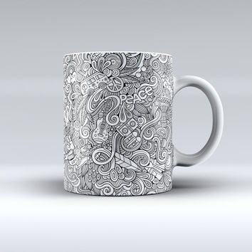 The Hippie Dippie Doodles ink-Fuzed Ceramic Coffee Mug