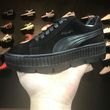 Rihanna x puma Fenty Cleated Creeper Black Basket Suede 366268 04 Black
