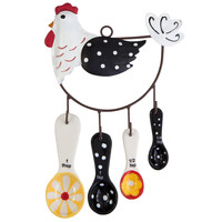Hen House Ceramic Measuring Spoon Set
