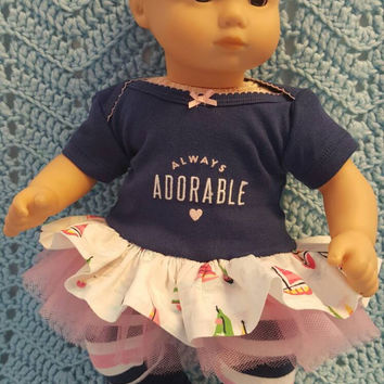 "Baby Doll Clothes to fit Bitty Baby ""Always Adorable"" (15 inch) Will fit Bitty Baby® dress, leggings, socks and headband ducks"