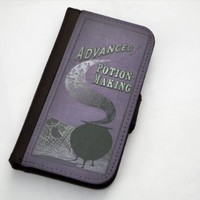 Harry Potter Inspired Advanced Potion Making Apple iPhone 5 / 5s Leather Wallet Case By Little Brick Press