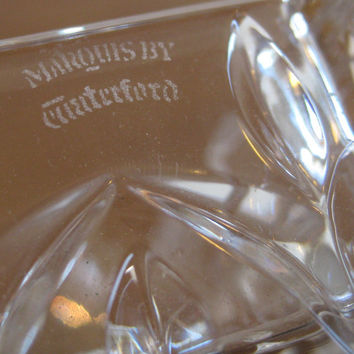 Vintage Waterford Cut Crystal Elegant Cocktail Party Ashtray