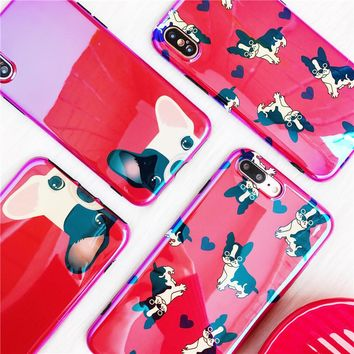 Cute Red French Bulldog PC Cover iPhone Case