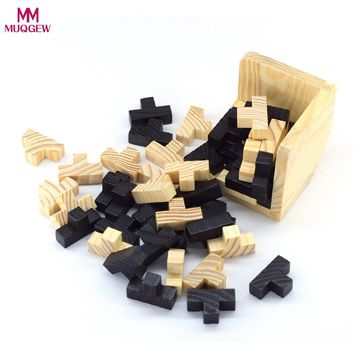 Educational Wood Puzzles For Adults Kids Brain Teaser 3D Russia Ming Luban Educational Kid Toy Children Gift Baby Kid's Toy IQ