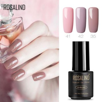 ROSALIND Gel 1 Solid Color Series 7ML 01-30 Soak Off UV Gel Nail Polish Need UV LED Lamp Drying Long-Lasting Gel lacquer