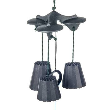 Traditional Black Cast Iron Japanese Wind Chime: Beautiful Sweet Sounding Chime