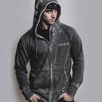 Men's Fleece Zip Up Hooded Sweatshirt - Dark Smoke