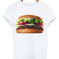 Whopper burger white t shirt