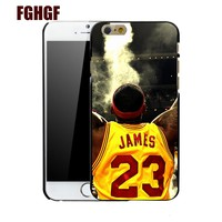 Coque LeBron James Basketball 23 Phone Hard Cases for iPhone 7 6S 6 5S SE 5C 5 4S 4 7 Plus 8 8plus x Case