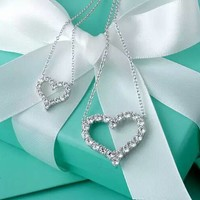 Tiffany & Co. Heart-shaped diamond necklace Olympic champion