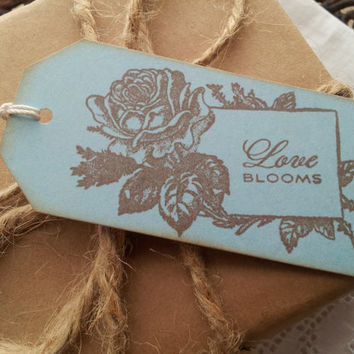 Love Blooms Rose Frame Tags Set of 6