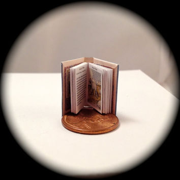AESOP'S FABLES 1/12 scale Handmade Miniature Dollhouse Book