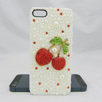 Cherry iPhone case,bling iphone 6 case,Crystal iphone 6 Plus,Ruby iphone 5/5S/5c,iphone 4 case samsung galaxy S3/S4/S5