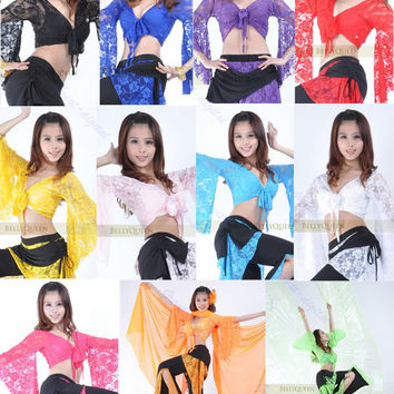 Sexy Belly Dance Dancing Lace Blouse Choli Top Bra Dancewear Costumes 11 Colors